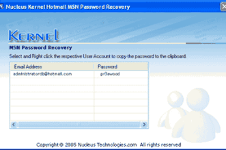 Programa Recuperar senha MSN Hotmail do PC - Hackear Live Messenger