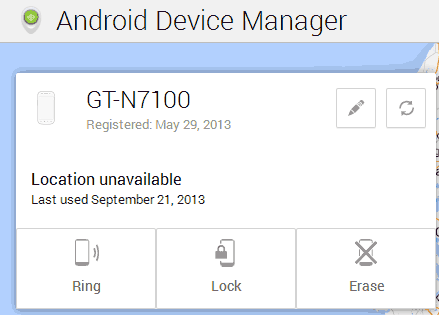 Travar celular Android remotamente usando o Android Device Manager oficial do Google